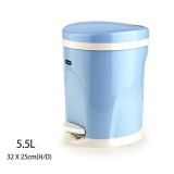 Sale Ruyiyu Round Step On Wastebasket Trash Can With Lid Mute And Slow Down 5 5L China Cheap