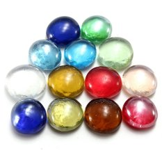 S and F 10 Pcs Gorgeous Fish Tank Aquarium Decor Landscaping Glass Marbles Beads Balls 14mm Colorful(Export)