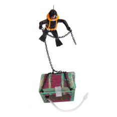 S & F Treasure Chest Diver Action Aquarium Fish Tank Landscape Ornament Decoration (EXPORT)