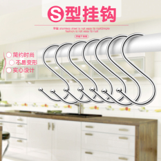 S Type Hook Stainless Steel S Hook Bedside Shelf Rack Shaped Single Sun Bacon Fish Hanging Clothes Strong Review