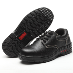 Mens And Womens Anti-Smash Puncture-Proof Low Top Leather Safety Shoe By Taobao Collection.