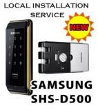 Price Comparisons Samsung Ezon Smart Digital Door Lock Shs D500 Hook Keyless Doorlock Local Installation Service Intl