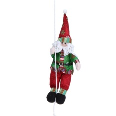 Santa Claus Doll Climbing Rope Christmas Tree Ornaments Decorations(red) - Intl By Crystalawaking.