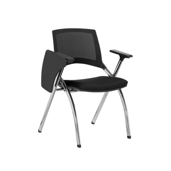 Foldable Training Chair  Student Mesh Folding Chair with Tablet  Model Sapphire II Baycus Singapore