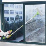 Sale Scalable Sided Glass Cleaner Window Cleaner Green With Auxiliary Lever Online On China