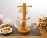 Scandinavian Solid Wood Cup Holder Dining Room Furniture Natural Japanese Design Birch Wood Sale