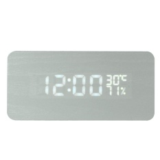 Schuan Rectangle Sound Activated LED Digital Alarm Clock with Temperature And Humidity Display - intl