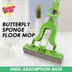 Brand New Scotch Brite 3M Butterfly Sponge Floor Mop 2 Mop Pads Bundle