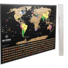 Buy designer wall art home decor online lazada scratch off world map poster newest 2018 version by dacho original travel tracker map print gumiabroncs Image collections