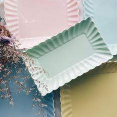 Price Seashell Pastel Rectangle Plate On Singapore