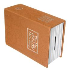 Secret Dictionary Book Cash Money Jewelry Storage Security Box Safe + 2 Lock Key brown - Intl