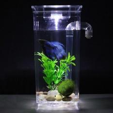 Retail Self Cleaning Plastic Fish Tank Desktop Aquarium Betta Fishbowl For Office Home Decor Specification Square Fish Tank