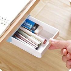 Best Rated Self Stick Pencil Tray Under Desk Holder Pop Up Pen Storage Drawer Organizer Intl