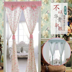 Pastoral Cloth Rod Curtain Oem Cheap On China