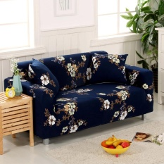 Set 1 + 2 + 3 Seater Stretch Slipcover Sofa Couch Protector Cover Living Room Home Decoration Flower #4 - intl