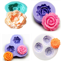 Buy Set Of 4 Bakeware Silicone Fondant Mold Cake Decoration Mold Random Color) Oem Online