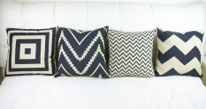 Set of 4 Retro Style Throw Pillow Case Pillowcase Sofa Home Decor Cushion Cover