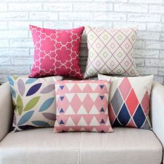 Set of 5 Style Shape Throw Pillow Case Pillow Case Sofa Home Decor Cushion Cover (No Filling)