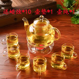 Price Comparisons Of Sets Transparent Heat Resistant Red Glass Flower Male Room Filter Plus Kung Fu Pot Tea Package Tea Tea Thick Do Home Tea Tea Glass