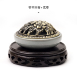 Shop For Qijiangfang Fragrant Old Style Copper Cover Sandalwood Plate Incense Burner Ceramic Incense Burner