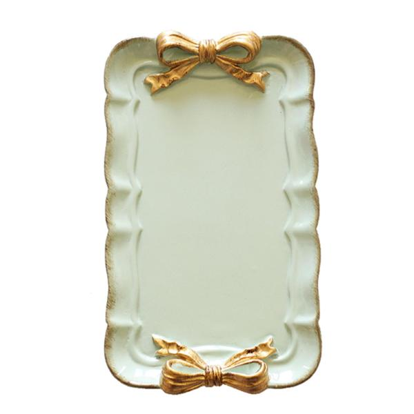 SHABBY CHIC SAGE GREEN DISPLAY PLATE