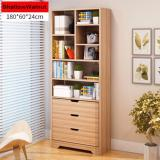 Review Shallow Walnut Wooden Book Rack With Drawers Singapore