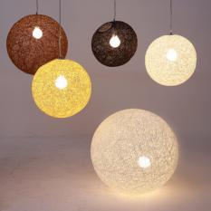 Coupon Shifan Pendant Light Primary Color 30Cm Woven Rattan Lamp Personality Circular Hanging Lighting Bedroom Restaurant Ceiling Lights With 5W E27 Light Bulb 2025