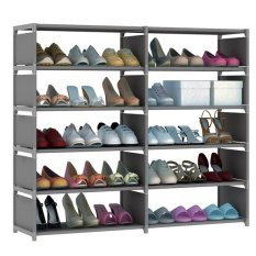 Sale Shoe Cabinet Rack 5 Tier Double Column Shelf Oem Branded