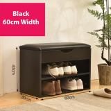 Get Cheap Shoe Rack With Sofa Seat Storage Bench Black 60Cm Width