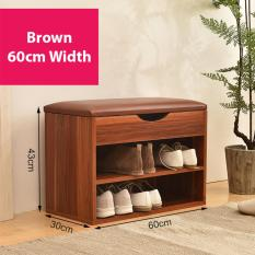 Shoe Rack With Sofa Seat Storage Bench Brown 60Cm Width Price