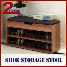 Shoe Stool Storage Rack  (2 Colours / 2 Sizes) - Installation Option Avail