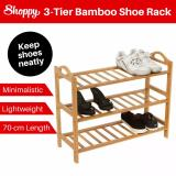Review Shoppy 3 Tier Bamboo Shoe Plant Storage Rack Organizer 70Cm Singapore