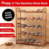 Price Comparisons Of Shoppy 5 Tier Level Bamboo Shoe Plant Storage Rack Organizer 70Cm