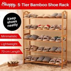 Review Shoppy 5 Tier Level Bamboo Shoe Plant Storage Rack Organizer 70Cm Singapore