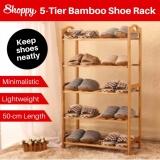 Where Can I Buy Shoppy 5 Tier Level Bamboo Shoe Plant Storage Rack Organizer 50Cm