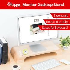 Shoppy Grand Wooden Desktop Monitor Stand Rack By Shoppy.
