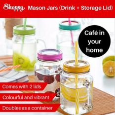 Discount Shoppy Parisian Mason Jars With Lids For Drinking And Storage 500Ml Shoppy Singapore