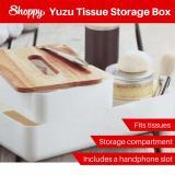 For Sale Shoppy Yuzu Wood Make Up Tissue Storage Beauty Box
