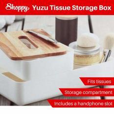 Sale Shoppy Yuzu Wood Make Up Tissue Storage Beauty Box On Singapore