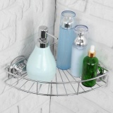 Best Buy Shower Suction Corner Shelf Rack Holder Stainless Steel Organizer Bathroom Caddy Intl