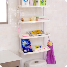 Shuangqing Bathroom Punched Toilet Shelf Multi Layer Storage Rack Oem Discount