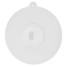 Silicone Cup Cover Lovely Odorless Cap Lid Leak Proof Fresh-Keeping Sealed(White)