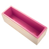 Promo Silicone Rectangular Diy Soap Candle Toast Jelly Pudding With Wooden Mold Box Homemade Silicone Rectangular Diy Soap Candle Toast Jelly Pudding With Wooden Mold Box Homemade Silicone Rectangul Intl