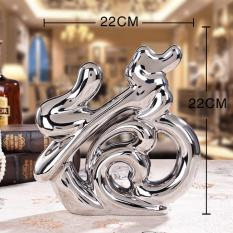 RC-Global Silver  Fortune wording - Modern Handicrafts CNY Home Decor Gift for Xmas Wedding House warming New Year ( 银福字 - 现代感手工艺品圣诞结婚搬家礼品)Silver Color