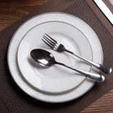 Buy Silver Edge Home Bone China Steak Dish