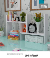 Simple solid wooden table top shelf