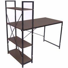 Buy Blmg Simple H Desk Walunt 120 Cm Mahogany Cheap On Singapore