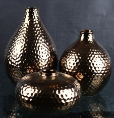 Minimalist Modern Ceramic Electroplated Gold Vase Minimalist Zen 58 Model Room Teapoy Table Decoration Craft Ornaments
