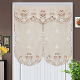 Best Rated Modern Minimalist Fabric Embroidered Blackout Curtain Fabric Short Curtain Door Curtain