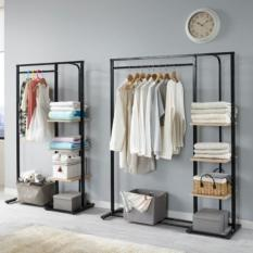 120cm Simple Modern Clothes Rack (Black)